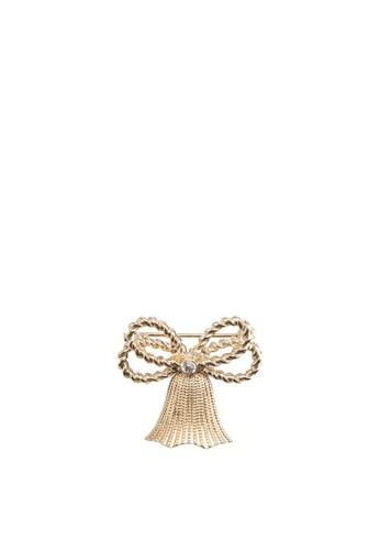 雙蝴蝶結鈴鐺胸針, 飾品esprit 高雄配件, 首飾