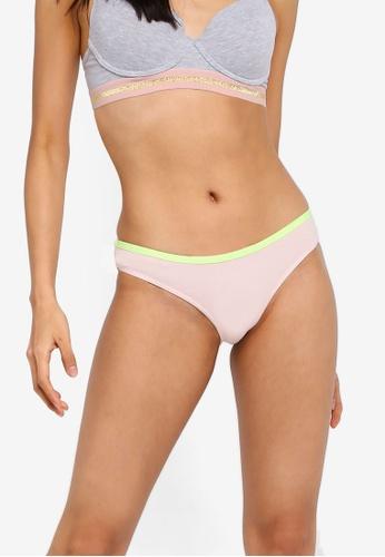 Cotton On Body pink Cotton Flat Elastic Cheeky Bikini Brief AF32BUS8B3D3FBGS_1