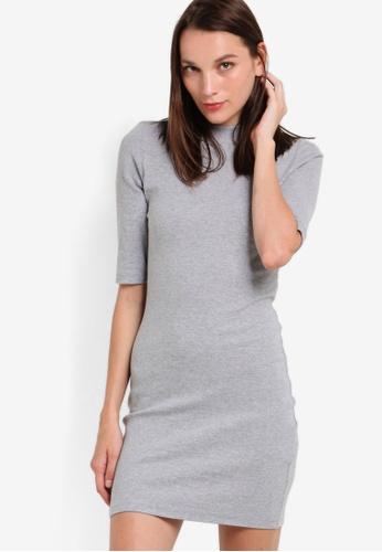 befb13ed923d Buy ZALORA Basic High Neck Bodycon Dress Online on ZALORA Singapore