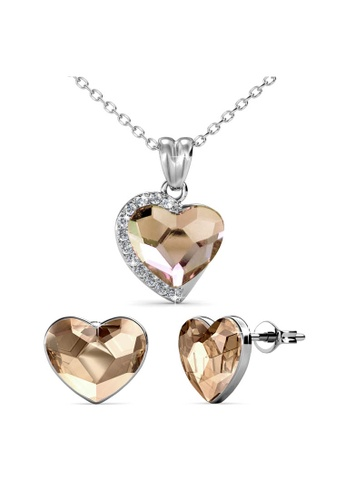 Her Jewellery yellow Fond Love Set (Champagne) - Made with premium grade crystals from Austria 7C637AC005569DGS_1