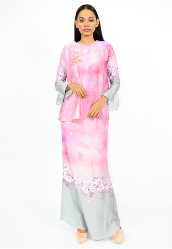 Kurung Shada from Watie Collections in Pink