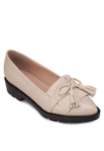 流zalora 鞋評價蘇低跟樂福鞋, 女鞋, 船型鞋