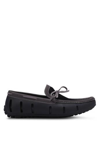 Knight grey Mesh Boat Shoes KN875SH0RX3NMY_1