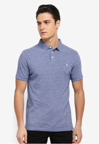 Jack Wills blue Langold Jaspe Pique Polo AD06AAAD1E1C38GS_1