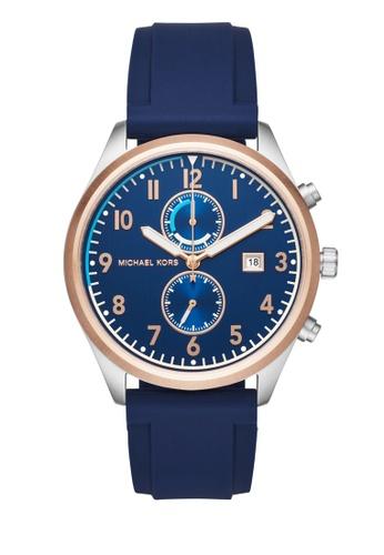 MICHAEL KORS blue Saunder Chronograph Watch MI248AC0K8VQPH_1