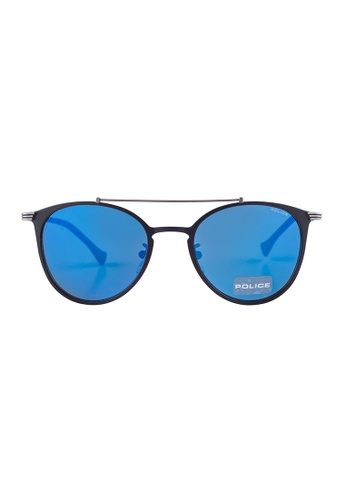 1d56252333f61 Police black POLICE Rival 9 Oval Classy Black Sunglasses SPL156  PO706AC39PAAMY 1