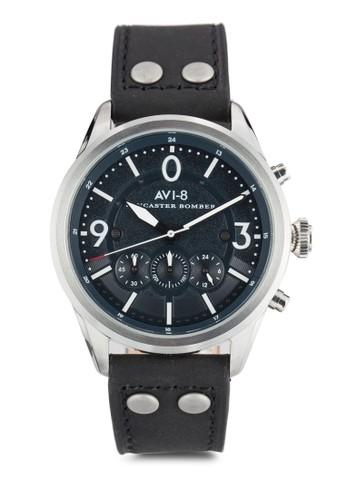 Lancaster 飛行計時esprit hk outlet皮革手錶, 錶類, 飾品配件