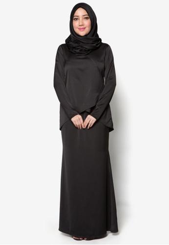 Kurung Moden Qhalisa from Amar Amran in Black