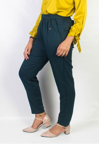 Zaryluq green and blue Dress Pants in Peppermint E057DAAD42CD08GS_1