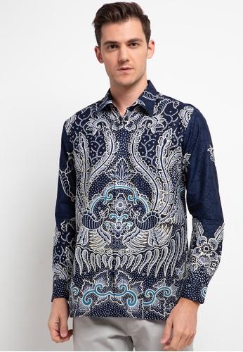 Rianty Batik blue Kemeja Varen 91989AAC1211A0GS_1