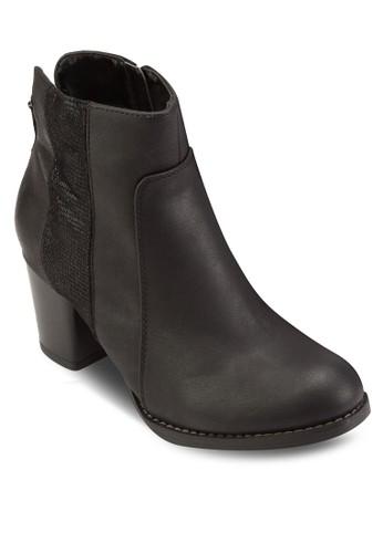 esprit台北門市蛇紋高跟踝靴, 女鞋, 鞋