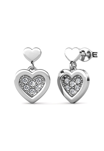 Her Jewellery silver Larine Love Earrings (White Gold) -  Embellished with Crystals from Swarovski® 9C022AC04A3A99GS_1