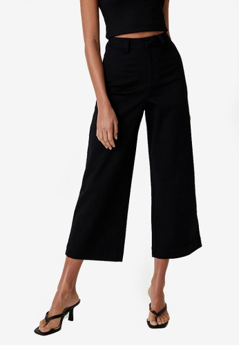 Supre black Zoe Wide Leg Pants AFE68AAF7622D7GS_1