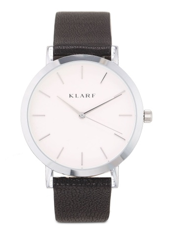 Klarf black Classic Watch With Leather Bracelet BF3C1AC0AAAC97GS_1