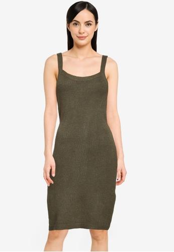 Noisy May green Lace Knit Dress 89A9AAA1DE6866GS_1