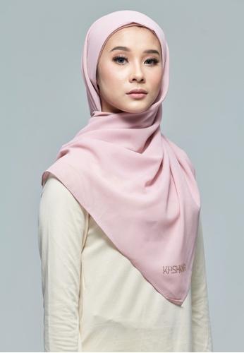 KASHKHA pink Gliiter Chiffon Square Scarf 660E2AA1483F83GS_1