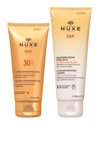 Nuxe white Nuxe Sun Duo -Spf30 Face & Body 150Ml With Hair & Body Shampoo 200Ml 3547EBE6BA2EA7GS_1