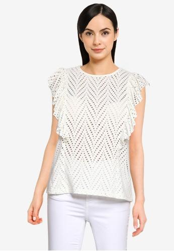 Vero Moda white Leah Frill Sleeveless Top BDB76AA8AC96C3GS_1