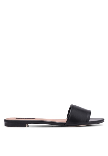ZALORA black Single Strap Sliders E9C99SHAC16C26GS_1