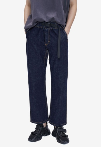 URBAN REVIVO blue Pull On Jeans 5BC61AA65BD469GS_1