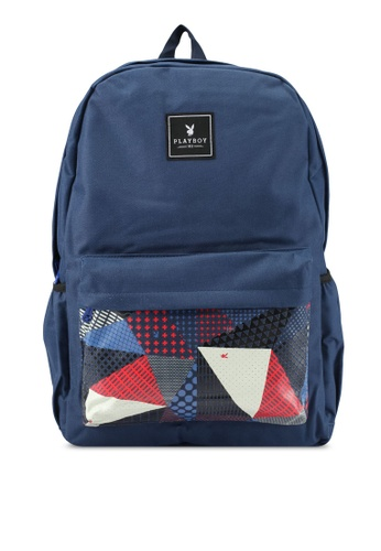 Playboy navy Playboy Casual Backpack PL371AC0SJYHMY_1