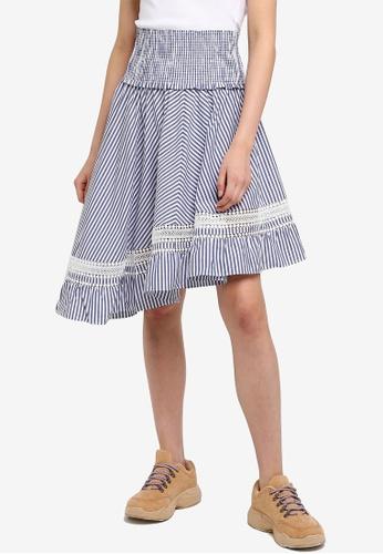 SCOTCH & SODA 多色 條紋蕾絲裙 65C93AAB81862CGS_1