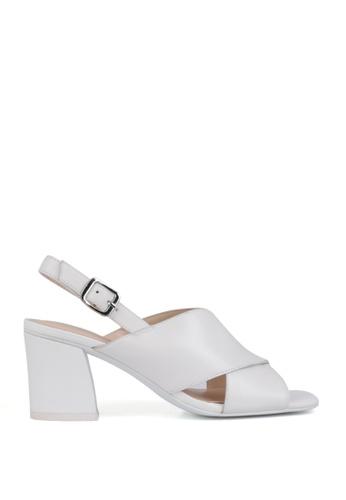 Miomia 白色 粗高跟涼鞋 3B578SH47782FBGS_1