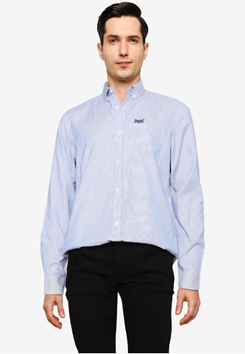 Superdry blue Classic University Oxford Shirt F76E2AAD2787A8GS_1