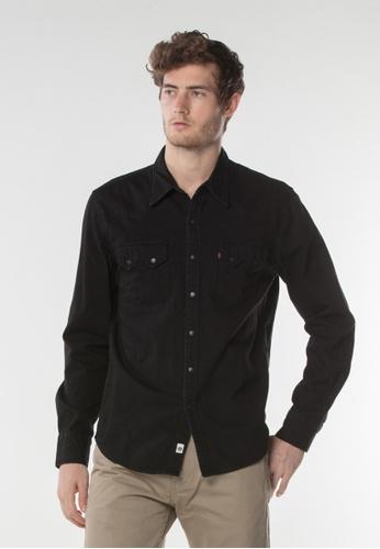 Levi's black Sawtooth Western Shirt 06D5FAA6BA9F67GS_1