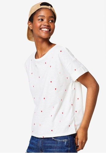 Esprit white Short Sleeve T-Shirt D6FCAAAA2BA11FGS_1
