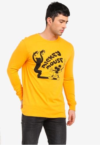 Cotton On 黃色 印花T恤 FF448AA4576356GS_1