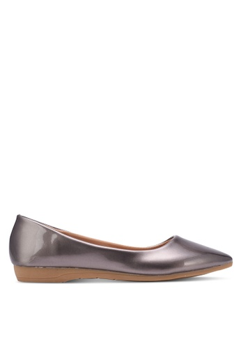 Spiffy grey and silver Young and Comfort Series Plain Flats SP352SH0S6E1MY_1