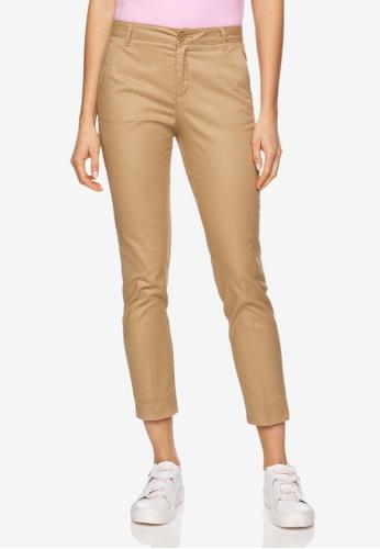 United Colors of Benetton 褐色 基本款素色休閒褲 3C3FAAA22D06C1GS_1