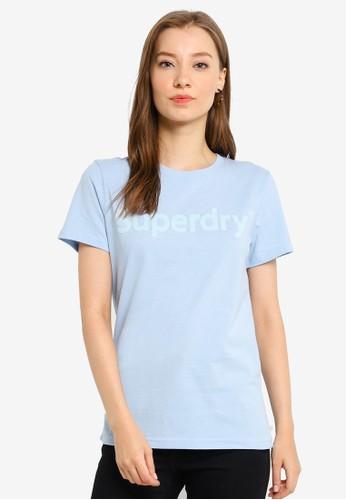 Superdry blue Reg Flock Entry Tee 02B24AA168D39BGS_1