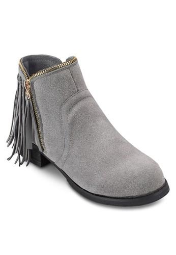 Covet 流蘇拉鍊邊飾踝靴, 女esprit 香港鞋, 靴子