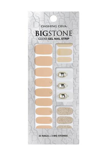 Dashing Diva beige Dashing Diva Gloss Gel Strip Big Stone Manicure Gladsome Thing / Nail Sticker /Nail Wraps D4DA3BE2FFC122GS_1