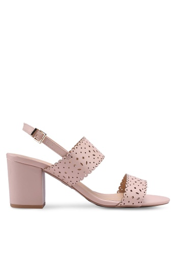 Dorothy Perkins pink Blush 'Sugar' Lazercut Sandals 1889DSH4421084GS_1