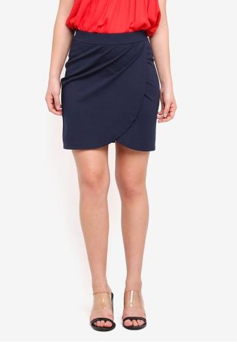 ICHI blue Kate Wrap Skirt 68391AA424B99BGS_1
