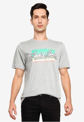 Jack & Jones grey Cody Short Sleeve T-Shirt 8C3E5AA9900BB8GS_1