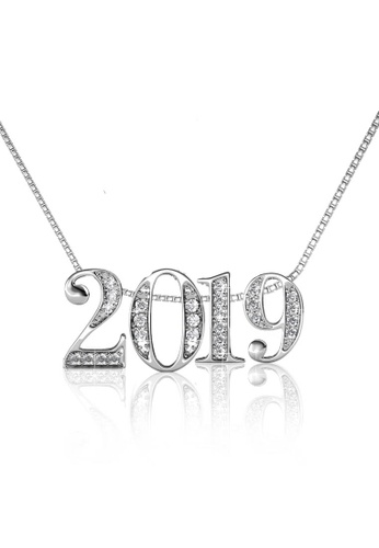 Her Jewellery silver Number Pendant (2019) - Made with Premium grade crystals from Austria 5810FAC50E0A9CGS_1