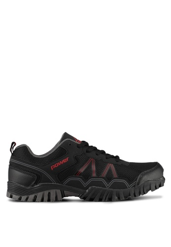 Power black and red Power Men Outdoor Shoes 40E28SHE50508FGS_1