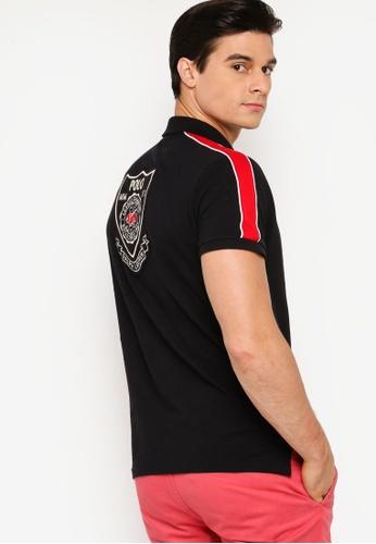 polo ralph lauren black Short Sleeve Custom Slim Fit Polo Shirt C8DE0AA465156DGS_1