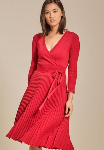 Dressing Paula red Ribbed Knit Dress EBCFEAA54A6553GS_1