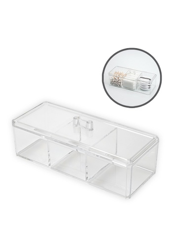 HOUZE HOUZE - 3 Compartment Tall Box With Lid D80F3HL409D743GS_1