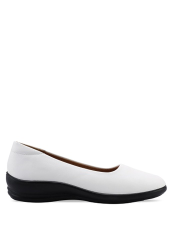 Louis Cuppers 白色 Faux Leather Ballerina Flats A6D00SH2DF4C00GS_1