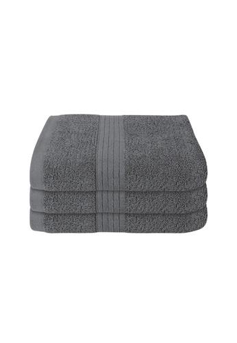 Milton Home SET OF 3 Milton Home Juro -SBT 100% Cotton Sports Bath Towel 60x110cm/ 270g. 3C69DHL66972A7GS_1