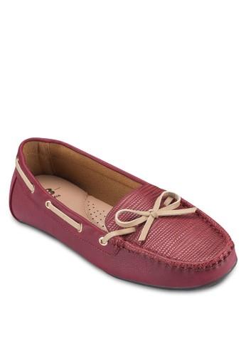 蜥蜴壓紋莫卡esprit香港分店辛鞋, 女鞋, 鞋