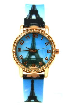 Women's Paris Day Time Silicon Strap Watch 016