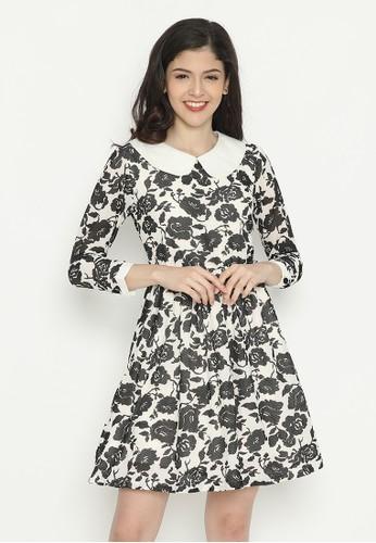 Mobile Power black Long Sleeve Dress Flower Horse Black Mobile Power Ladies - D40026 0B127AA8CF2774GS_1