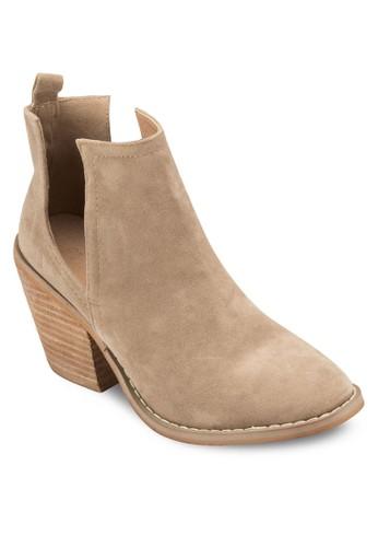Elle Vesprit hk store 鏤空粗跟踝靴, 女鞋, 鞋